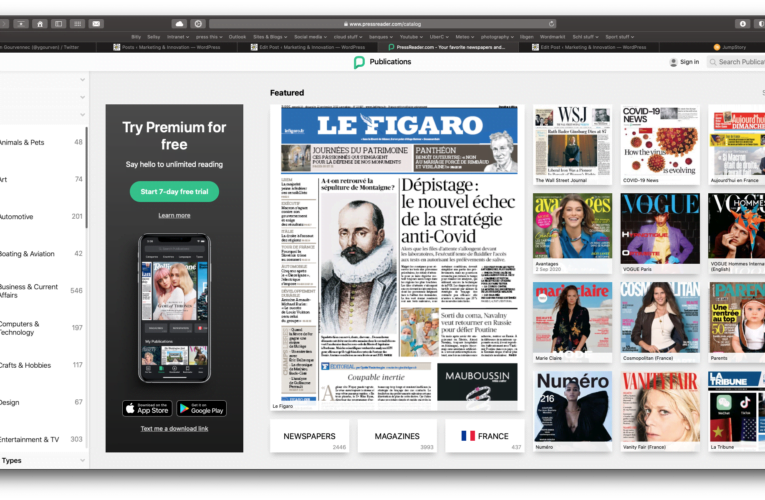 PressDisplay provides Internet access to 250 international newspapers