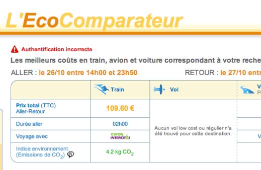 Ecocomparateur : marketing de la transparence avec la SNCF