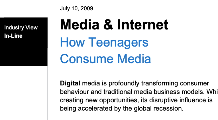 How teenagers – and adults – consume media – a critical look