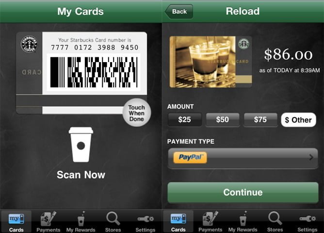 mobile to store - Starbucks