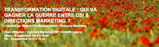 événement transformation digitale - guerre DSI Marketing