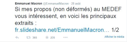 macron-tweet-propos-non-déformés-au-Medef-BIS