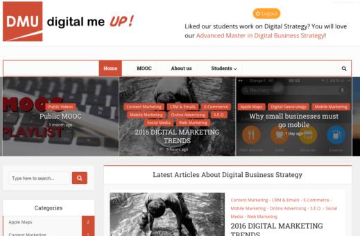 Digital me up : le blog anglais sur le digital écrit par des étudiants