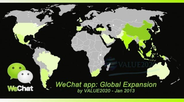WeChat in the world
