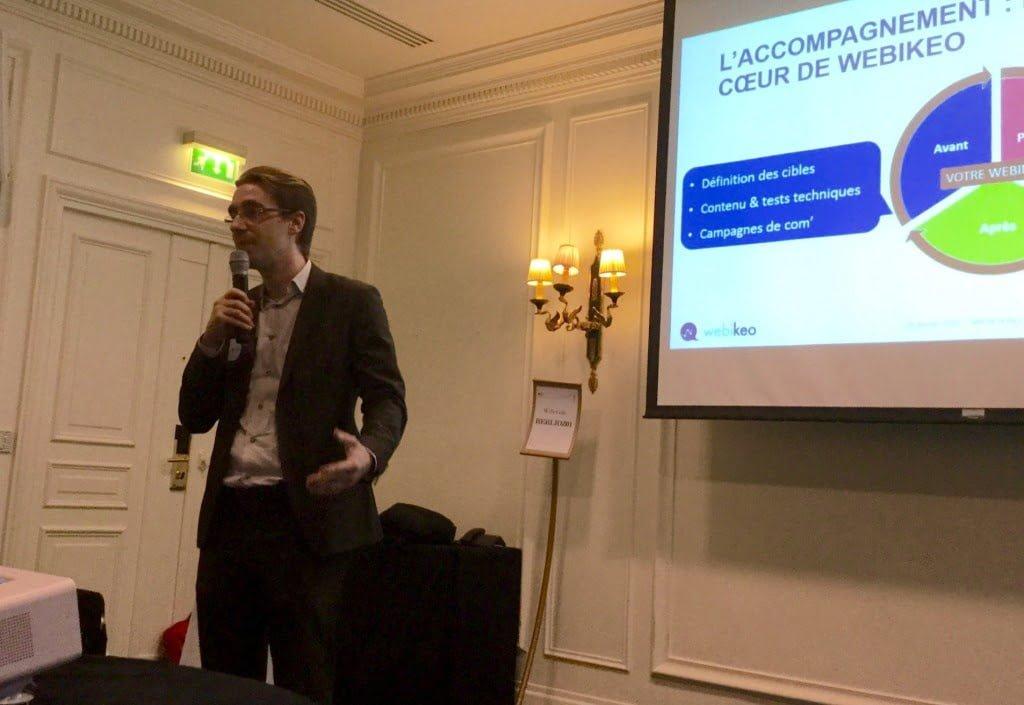 Pierre Henri Tataranno, fondateur de Webikeo a ouvert la session avant de passer la parole à Ondine Trompette