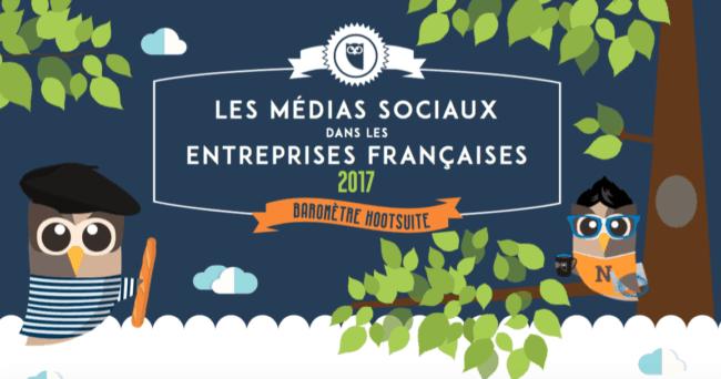 Baromètre Médias Sociaux 2017 Hootsuite et Visionary Marketing