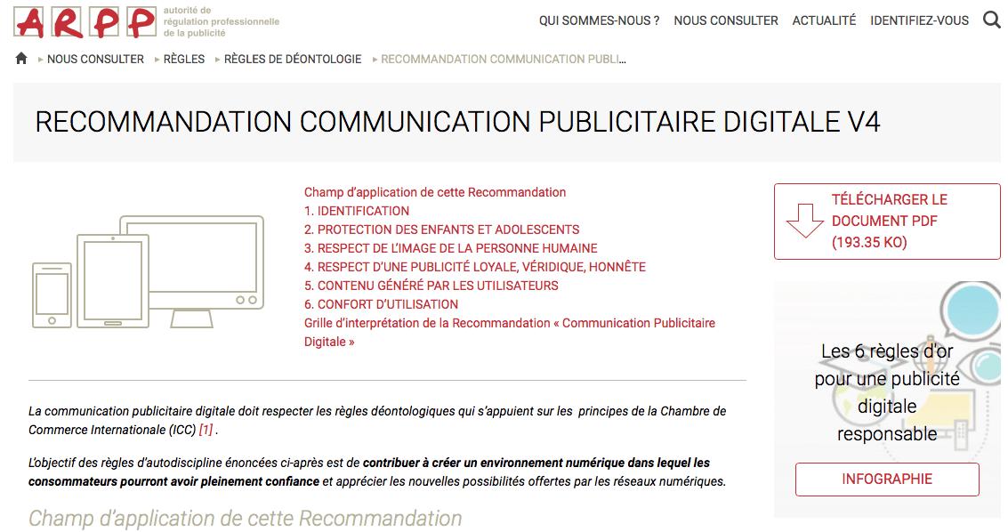 Les recommandations de transparence de l'ARPP