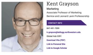 Kent Grayson - publicité éthique