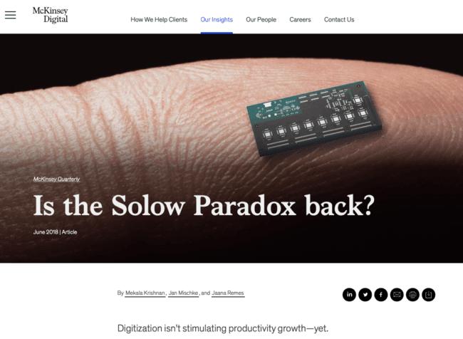 Paradoxe de Solow : le ROI du digital est-il vraiment en question ?