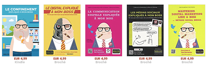 Nos livres de marketing digital : la collection expliqués à mon boss