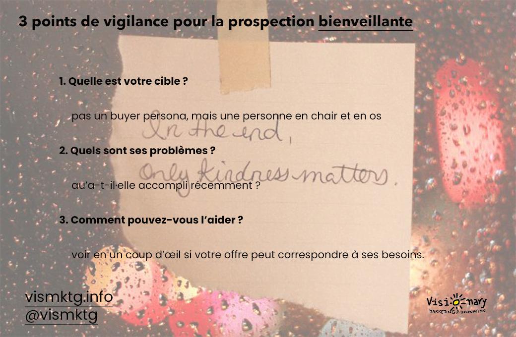 3 points de vigilance pour une prospection bienveillante