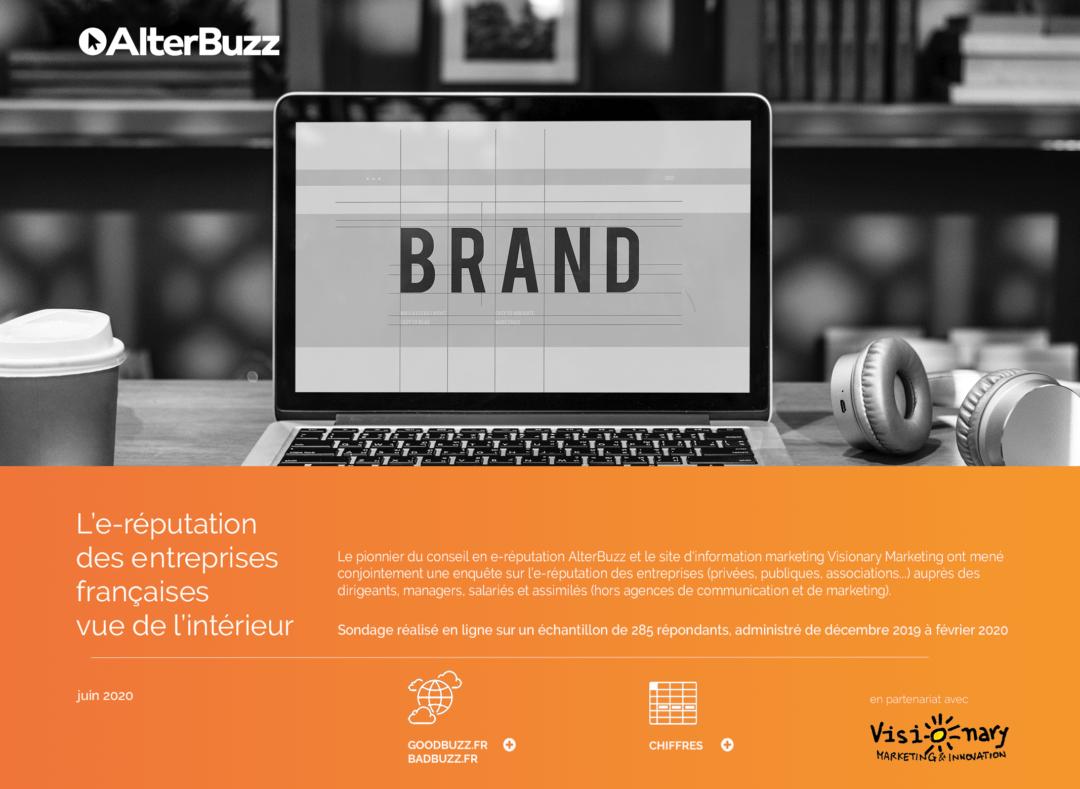 e-réputation des entreprises françaises en 2020 : une étude Visionary Marketing et Alterbuzz