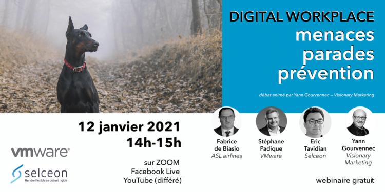 Notre webinaire du 12 janvier traitera de la cybersécurité, du Zero-Trust et de la digital workplace : inscription sur vismktg.info/live120121
