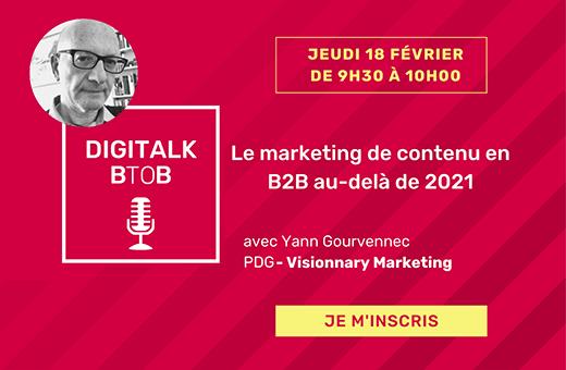Le marketing de contenu en B2B au-delà de 2021