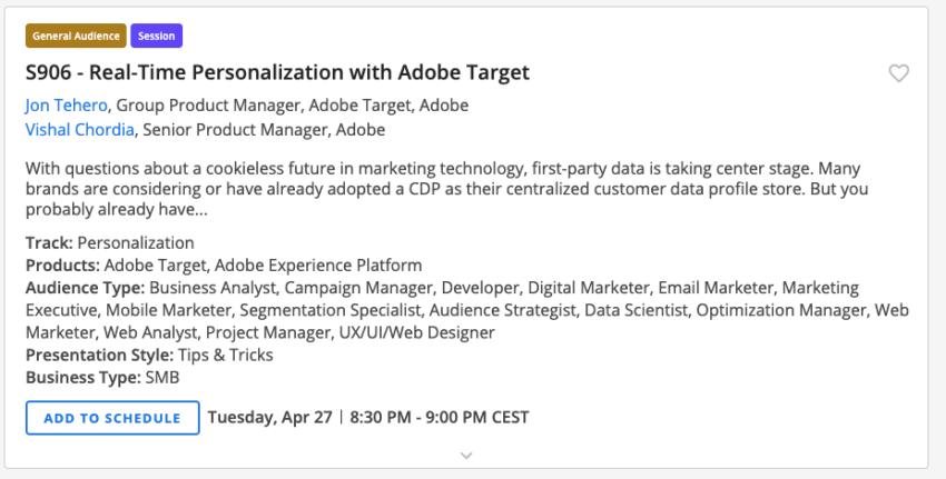 Adobe Marketing personnalisation