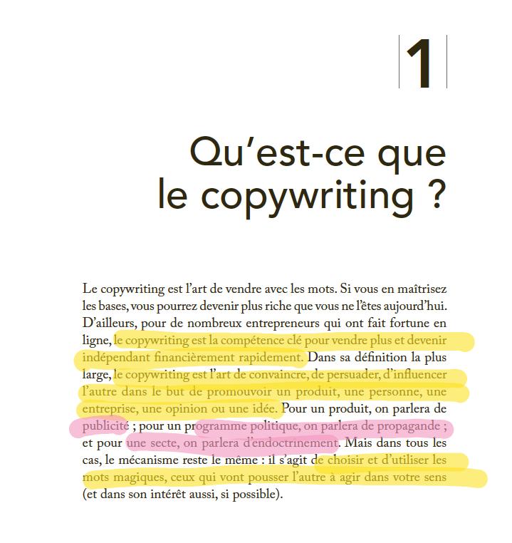 copywriting page produit