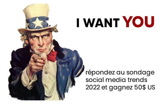 sondage tendances médias sociaux 2022